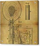 1943 Camera Flash Patent Acrylic Print
