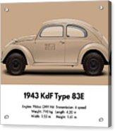 1943 Kdf Type 83e - Sand Acrylic Print