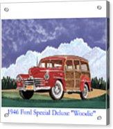 1946 Ford Woody Acrylic Print