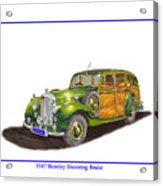 1947 Bentley Shooting Brake Acrylic Print