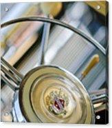 1947 Buick Roadmaster Steering Wheel Acrylic Print