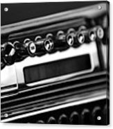 1947 Cadillac Radio Black And White Acrylic Print