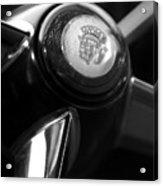1947 Cadillac Steering Wheel Acrylic Print by Jill Reger