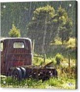 1947 Dodge Pickup Rain And Sun Acrylic Print