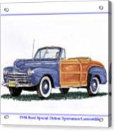 1948 Ford Sportsman Convertible Acrylic Print