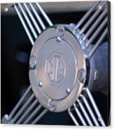 1948 Mg Tc Steering Wheel 2 Acrylic Print