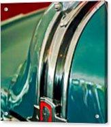 1948 Pontiac Streamliner Woody Wagon Hood Ornament Acrylic Print