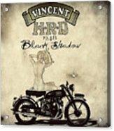 1948 Vincent Black Shadow Acrylic Print