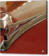 1949 Ford Custom Hood Ornament Acrylic Print
