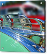 1949 Plymouth Hood Ornament Acrylic Print by Larry Keahey