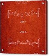 1950 Barbell Patent Spbb04_vr Acrylic Print