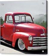 1950 Chevrolet 3100 Pickup 'show Low' II Acrylic Print