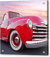 1950 Chevy Pick Up At Sunset Acrylic Print