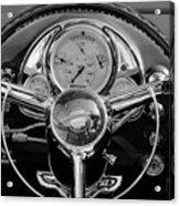 1950 Oldsmobile Rocket 88 Steering Wheel 4 Acrylic Print