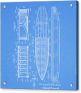1950 Surfboard Patent Acrylic Print