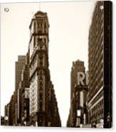 1950 Times Square New York Acrylic Print