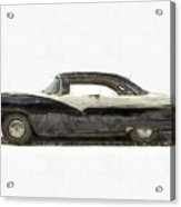 1950s Ford Fairlane Crown Victoria Pencil Acrylic Print