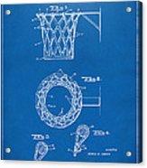 1951 Basketball Net Patent Artwork - Blueprint Acrylic Print