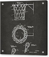 1951 Basketball Net Patent Artwork - Gray Acrylic Print