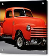 1951 Chevrolet 'gasser Style' Pickup I Acrylic Print