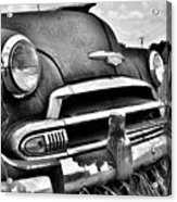 1951 Chevrolet Power Glide Black And White 3 Acrylic Print
