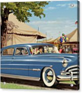 1951 Hudson Hornet Fair Americana Antique Car Auto Nostalgic Rural Country Scene Landscape Painting Acrylic Print