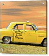 1951 Plymouth Sedan 'yellow Cab' Acrylic Print