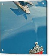 1952 Crosley Super Woody Wagon Hood Ornament Acrylic Print