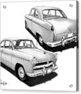 1952 Willys  Acrylic Print