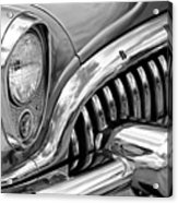 1953 Buick Chrome Bw Acrylic Print