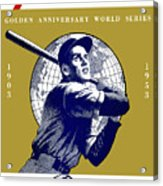 1953 Yankees Dodgers World Series Program Acrylic Print