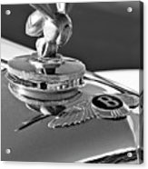 1954 Bentley One Of A Kind Hood Ornament 2 Acrylic Print by Jill Reger