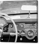 1954 Chevrolet Corvette Steering Wheel -368bw Acrylic Print