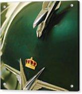 1954 Chrysler Imperial Sedan Hood Ornament Acrylic Print