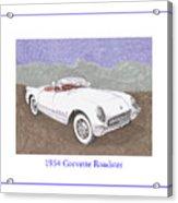 1954 Corvette Roadster Acrylic Print