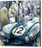 1954 Le Mans 24 Jaguar D Type Short Nose Stirling Moss Peter Walker  Acrylic Print
