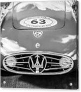 1954 Maserati A6 Gcs -0255bw Acrylic Print