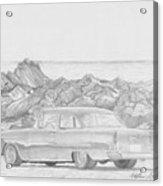 1955 Chevrolet 210 Classic Car Art Print Acrylic Print
