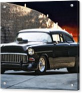 1955 Chevrolet Coupe 'sinister Chevy' Acrylic Print