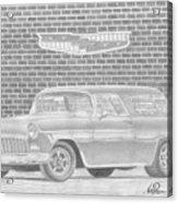 1955 Chevrolet Nomad Classic Car Art Print Acrylic Print