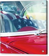 1955 Chevy Bel Air With Flag Acrylic Print