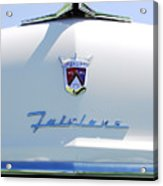 1955 Ford Fairland Hood Ornament Acrylic Print