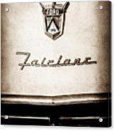 1955 Ford Fairlane Crown Victoria Emblem -1713s Acrylic Print
