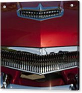 1955 Kaiser Hood Ornament And Grille Acrylic Print