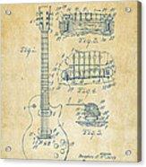 1955 Mccarty Gibson Les Paul Guitar Patent Artwork Vintage Acrylic Print