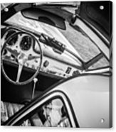 1955 Mercedes-benz 300sl Gullwing Steering Wheel - Race Car -0329bw Acrylic Print