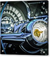 1955 Pontiac Star Chief Steering Wheel Emblem -0103c Acrylic Print