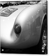 1955 Porsche 550 Rs Spyder . Black And White Photograph . 7d9453 Acrylic Print