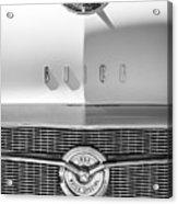 1956 Buick Special Hood Ornament - Emblem -0538bw Acrylic Print