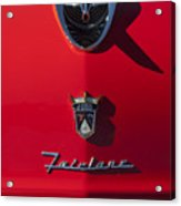 1956 Ford Fairlane Hood Ornament 2 Acrylic Print
